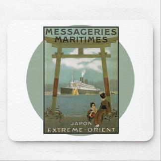 Vintages Reise-Plakat - Japan Mousepads