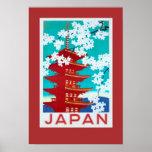 Vintages Reise-Plakat Japan Poster