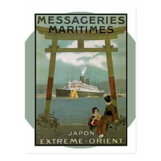 Vintages Reise-Plakat - Japan Postkarte
