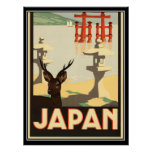 Vintages Reise-Plakat Japans Poster