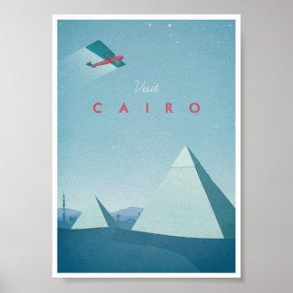 Vintages Reise-Plakat Kairo Poster