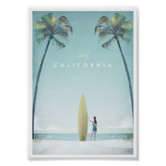 Vintages Reise-Plakat Kaliforniens Poster