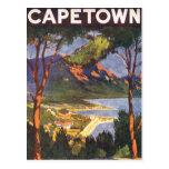 Vintages Reise-Plakat, Kapstadt, Südafrika Postkarten