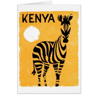 Vintages Reise-Plakat Kenias Afrika wieder Karte