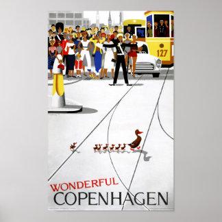 Vintages Reise-Plakat Kopenhagens wieder Poster
