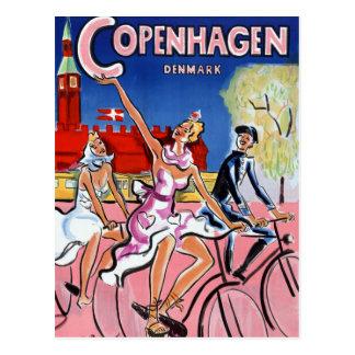 Vintages Reise-Plakat Kopenhagens wieder Postkarte