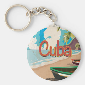 Vintages Reise-Plakat Kubas Schlüsselanhänger