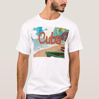 Vintages Reise-Plakat Kubas T-Shirt