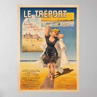 Vintages Reise-Plakat Le Treport Art Nouveau Poster