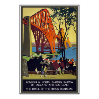 Vintages Reise-Plakat London Schottland