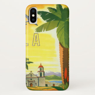 Vintages Reise-Plakat, Los Angeles, Kalifornien iPhone X Hülle