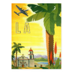 Vintages Reise-Plakat, Los Angeles, Kalifornien Postkarten