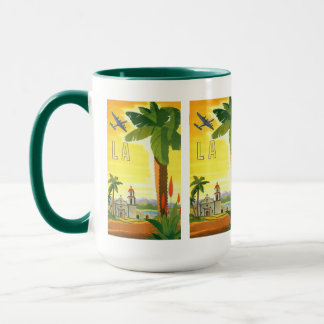Vintages Reise-Plakat, Los Angeles, Kalifornien Tasse