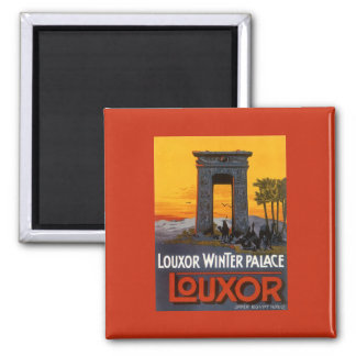 Vintages Reise-Plakat, Louxor Winter-Palast, Ägypt Magnete