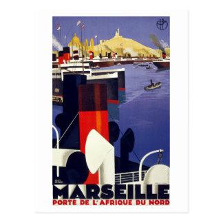 Vintages Reise-Plakat Marseilles wieder Postkarte