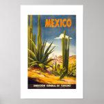 Vintages Reise-Plakat Mexiko