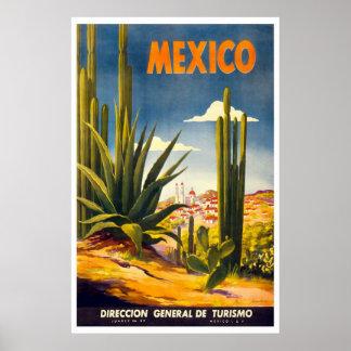 """Vintages Reise-Plakat """"Mexikos"""""""