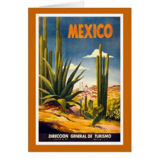 """Vintages Reise-Plakat """"Mexikos"""" Karte"""