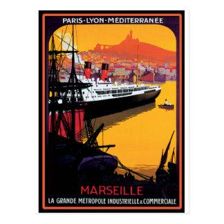 Vintages Reise-Plakat: Mittelmeer Postkarte