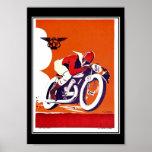 Vintages Reise Plakat-Motorrad-Rennen
