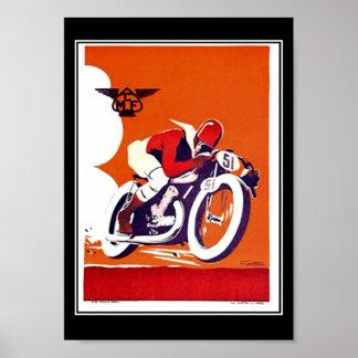 Vintages Reise Plakat-Motorrad-Rennen Poster