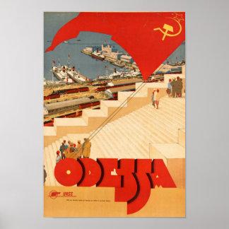 Vintages Reise-Plakat nach Odessa Poster