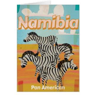 Vintages Reise-Plakat Namibias Karte