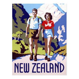 Vintages Reise-Plakat Neuseelands wieder Postkarte