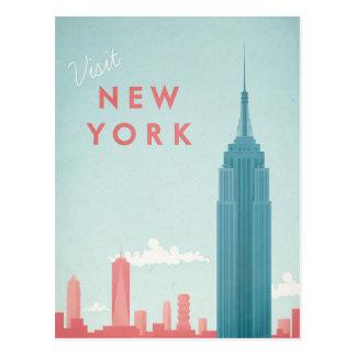 Vintages Reise-Plakat New York - Kunst-Postkarte Postkarte