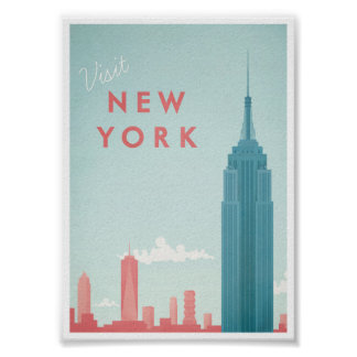 Vintages Reise-Plakat New York Poster