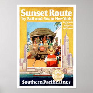 Vintages Reise-Plakat New York wieder hergestellt Poster
