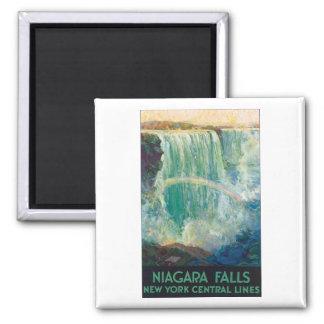 Vintages Reise-Plakat Niagara Falls Quadratischer Magnet
