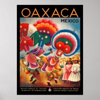Vintages Reise-Plakat Oaxacas Mexiko Poster