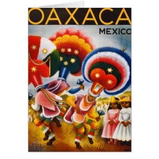 Vintages Reise-Plakat Oaxacas Mexiko wieder Karte