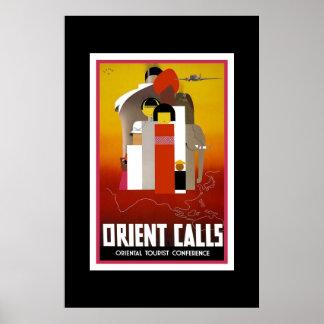 Vintages Reise-Plakat Orient