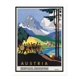 Vintages Reise-Plakat, Österreich Postkarte