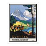 Vintages Reise-Plakat, Österreich Postkarten