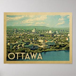 Vintages Reise-Plakat Ottawas Poster