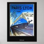 Vintages Reise-Plakat Paris-Lyon Frankreich