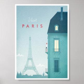 Vintages Reise-Plakat Paris Poster