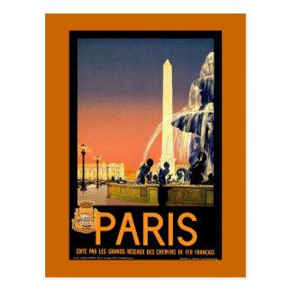 Vintages Reise-Plakat Paris Postkarte