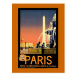 "Vintages Reise-Plakat ""Paris"" Postkarten"