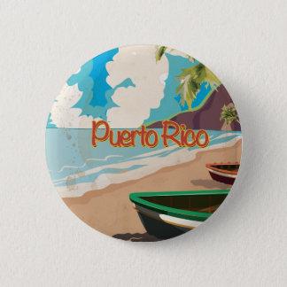 Vintages Reise-Plakat Puertos Rico Runder Button 5,7 Cm