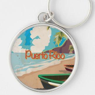 Vintages Reise-Plakat Puertos Rico Schlüsselanhänger