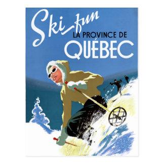 Vintages Reise-Plakat Quebecs Kanada wieder Postkarte