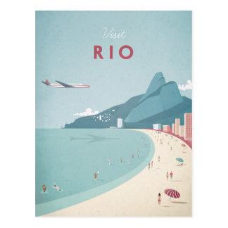 Vintages Reise-Plakat Rios - Kunst-Postkarte Postkarte