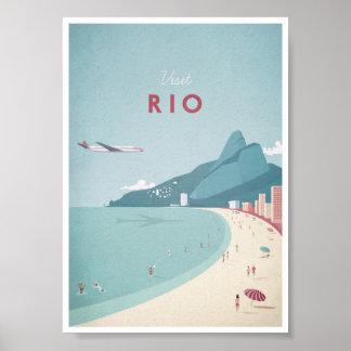 Vintages Reise-Plakat Rios Poster