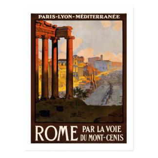 Vintages Reise-Plakat, Rom Postkarten