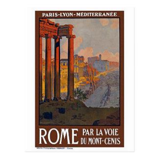 """Vintages Reise-Plakat """"Roms"""" Postkarte"""