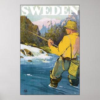 Vintages Reise-Plakat Schwedens